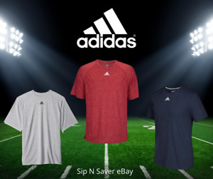 Adidas Dry Fit Moisture Wicking Gym Tee Shirt T Shirt Sizes S XL Gray Red Navy $10.36