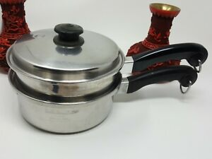 SALADMASTER T304S 2QUART SAUCE PAN  & VAPO  LID WITH STEAMER STRAINER COOKWARE