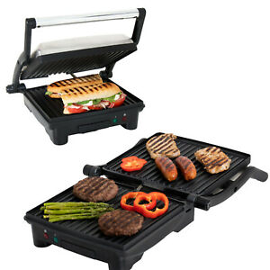 Premium 4 Slice Panini Press Grill Sandwich Maker Opens fully flat 180 degrees $54.99