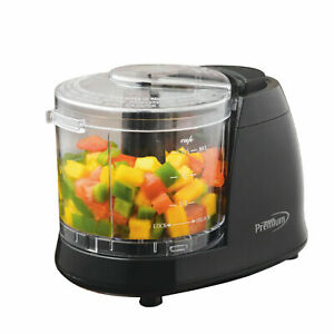 Premium Deluxe Electrci Mini Food Chopper 1.5 Cups Stainless Steel Blades 100W