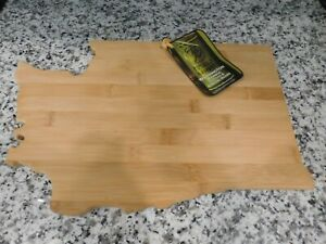 NEW Totally Bamboo Washington State Cutting Serving Board