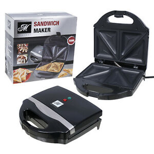 Mercury Sandwich Maker and Toaster with Baking Plates Non Stick Surface Black