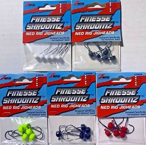 Z Man Finesse ShroomZ Ned Rig Jig heads Fishing Bass Choose Color amp; Size ZMAN