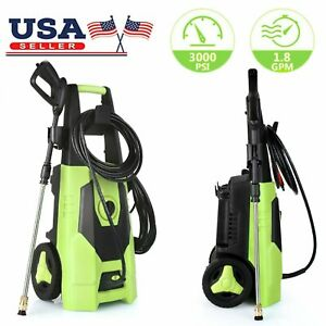 3000 PSI 1.8GPM Electric Pressure Washer High Powerful Water Cleaner Machine Kit $85.99