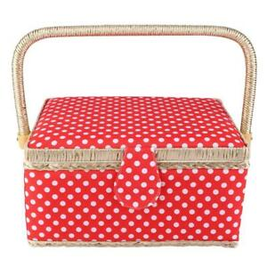 Sewing Storage Basket Box Sewing Tool Accessories Case with Handle $39.11