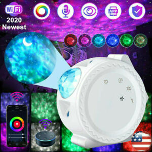 Galaxy Starry Projector Night Light LED Star Ocean Wave Projector Lamp Kids Gift $11.49