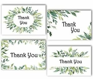 100 Thank You Cards amp; Envelopes 4 Green Grass Designs Blank Inside 4x6 Inches