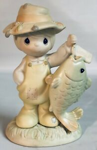 Precious Moments 1997 quot;You Are My Once In A Lifetime Fishing Figurine 531030 NIB