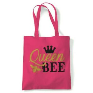 Queen Bee Tote Reusable Shopping Canvas Bag Gift Her