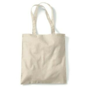 Plain Tote Reusable Shopping Canvas Bag Eco Friendly Gift Him Her
