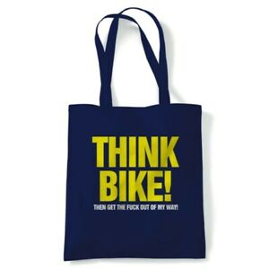 Think Bike Funny Tote Reusable Shopping Canvas Bag Gift