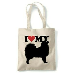 I Love My Samoyed Tote Reusable Shopping Canvas Bag Gift
