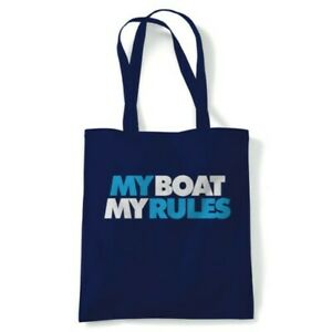 My Boat My Rules Tote Reusable Shopping Canvas Bag Gift