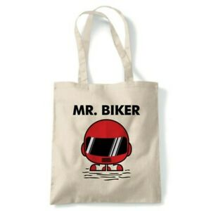 Mr Biker Funny Tote Reusable Shopping Canvas Bag Gift