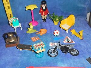Vintage Dollhouse Doll House Lot Outdoors w BBQ Chair Skateboards Extras MD6