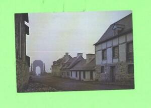 YY POSTCARD RUE TOULOUSE AND PORTE FREDERIC FORTRESS OF LOUISBOURD NOVA SCOTIA $1.00