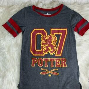 Harry Potter Size Small Quidditch Jersey Top Blouse Tee Shirt Gray Grey Hogwarts $19.00