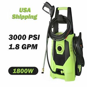 3000PSI 1.8GPM Strong Electric Pressure Washer High Power Water Cleaner Machine $85.99