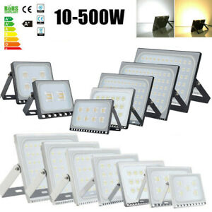 10 500W Led Flood Light Cool Warm White Waterproof Outdoor Spotlight Garden Lamp