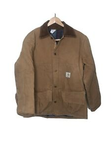 Carhartt Hunting Jacket w Game Pouch Blanket Lined Size L quot;CB256quot; Made in USA