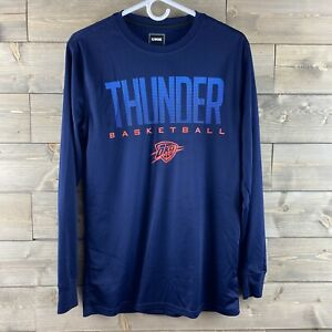 NBA UNK Oklahoma City Thunder Mens Shirt Long Sleeve OKC Basketball Size Small $9.99