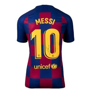 Lionel Messi Signed FC Barcelona 2019 20 Home Shirt Number 10 Autograph GBP 505.99