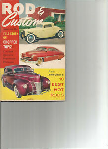 ROD amp; Custom August 1958 20 Pages on Top Chopping 10 Best Rods of 1958