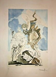 Salvador Dali Etching Angel Signed And Numbered Stamp Dry 1971 $6508.15