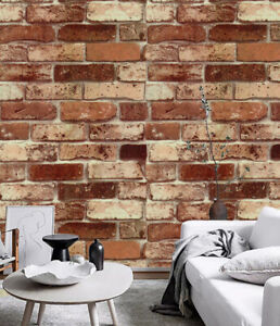 Vintage Vinyl Peel and Stick Brick Wallpaper Self Adhesive for Kitchen Wall