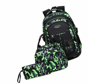 Kids Boys Backpacks Elementary School Camouflage Bookbag 3pcs Set with Lunch ... $65.99