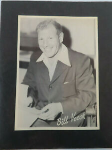 1949 Cleveland Indians Bill Veeck Owner Black and White 6.5 x 9 Photo $6.99