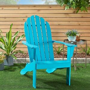 Mainstays All weather Indoor Outdoor Patio Garden Lawn Adirondack Chair Blue