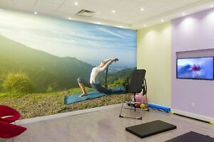 3D Yoga Exercise ZHUA1145 Wallpaper Wall Murals Removable Self adhesive Amy