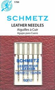 5 PACK SCHMETZ LEATHER SEWING MACHINE NEEDLES SIZE 80 12 Part# S 1784 $6.99