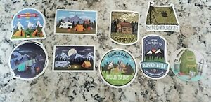 9 Small Camping Decals