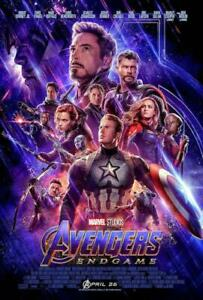 Avengers End Game Movie Sheet Poster 24x36 inch Fast Shipping Marvel 2019 $9.50