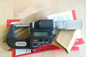 "Starrett Digital Outside Micrometer 0 1"" 0.00005"" Round Anvil Flat Spindle $299.95"