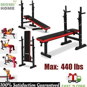 Weight Bench Folding Adjustable Lifting Flat Incline Ab Abdominal Home Gym 440lb $259.95