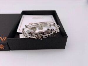 NEW Alex and Ani BEST FRIENDS ARROW SET Silver Charm Bangle Bracelet NWT amp; BOX $39.99