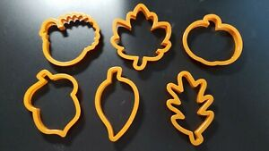 Fall Cookie Cutters Plastic Asst. Fall Images NEW