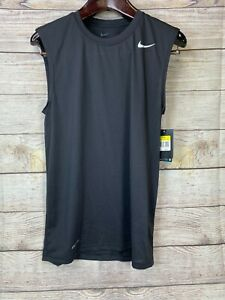 NEW Nike Mens Black Essential Sleeveless Dry Fit Shirt Tshirt T Shirt $16.99