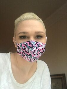 Reusable Lightweight Soft Breathable Cloth pink Camouflage Face Mask Covering