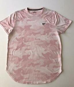 Hollister Men California Camouflage Pink Crew Neck Tee Large Size