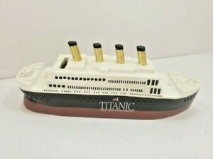 Large Polyresisn Coin Bank Souvenir From Titanic Museum Gift Shop