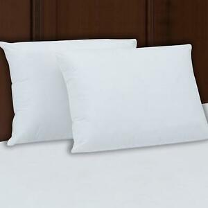 Extra Super Firm Pillow KING SIZE Set 2 Bed Pillows 3quot; SuperSide FREE SHIPPING