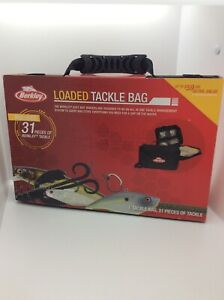 Berkley Fishing Loaded Tackle Box Bag Bass Lures Lot Rubber Worms Ugly Stick