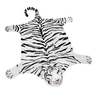 BRUBAKER Realistic White Plush Tiger Rug 72quot; x 42quot; $59.99