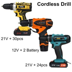 Electric Cordless Drill 21V 12V Electric Drill Combo Set with Battery amp; Charger