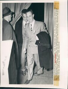 1949 Photo Harry Bridges International Longshoremen Joseph Curran WirePhoto