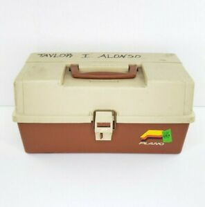 Vintage Plano 6303 Tackle Box 3 Tray Made in USA Fishing Storage Clean
